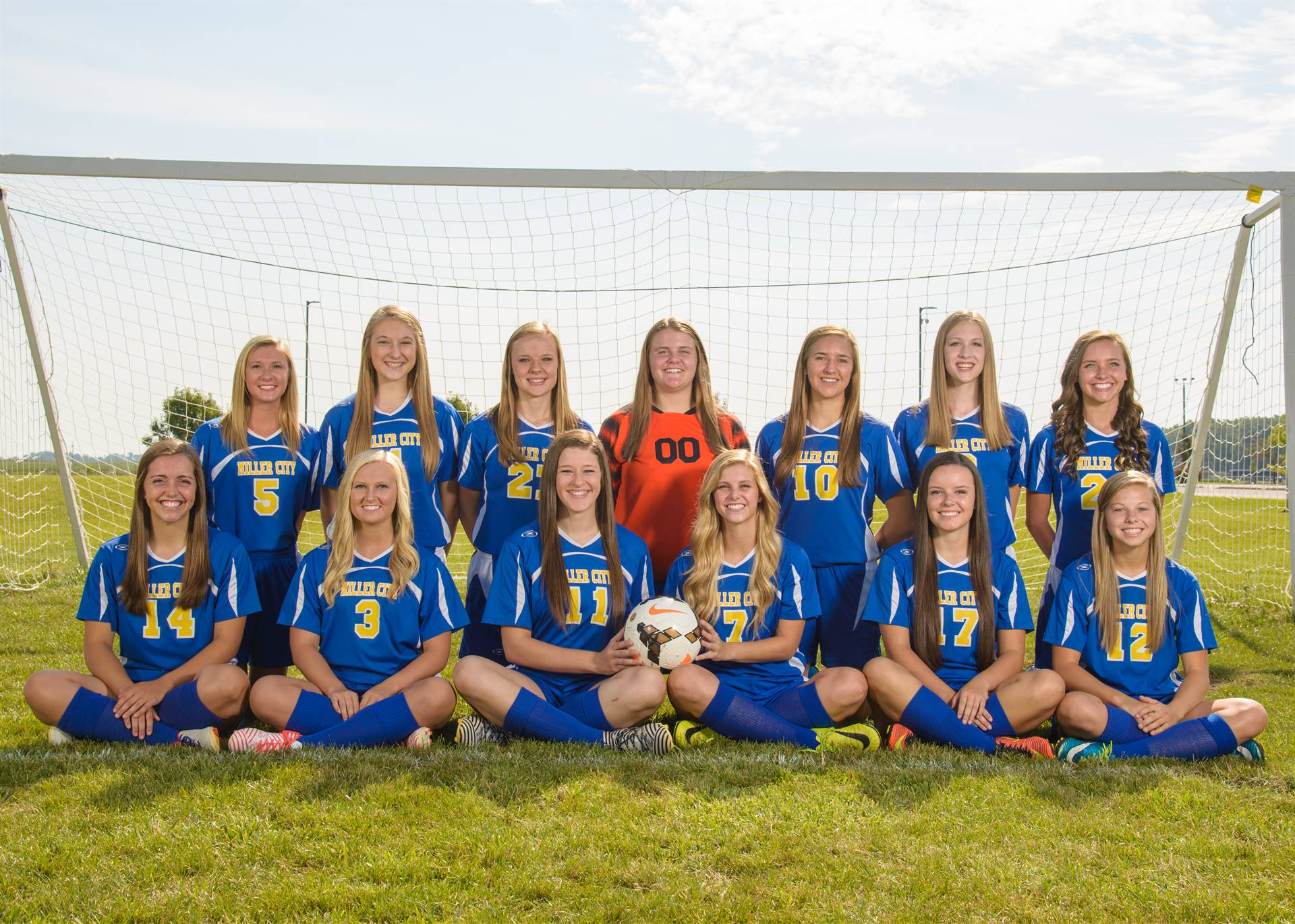 Girls Team Soccer Photo