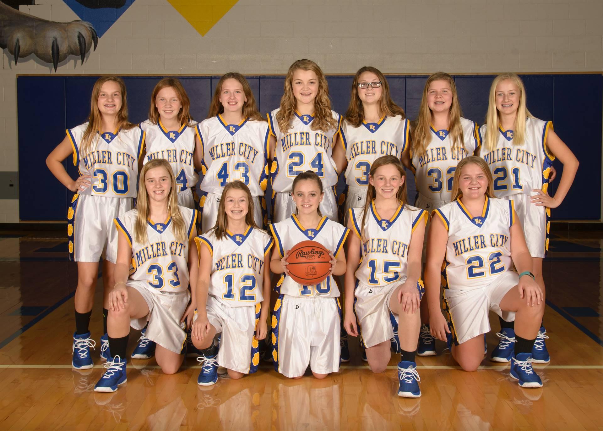 7th Grade Girls Basketball Team Photo